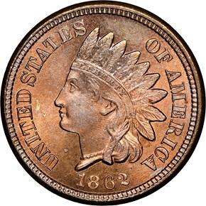 1862 1C MS obverse