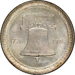 1926 AMERICAN SESQUICENTENNIAL 50C MS reverse