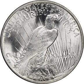 1924 $1 MS reverse