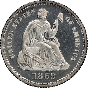 1869 H10C PF obverse