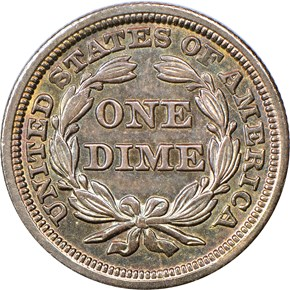 1847 10C MS reverse