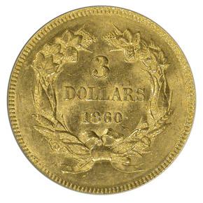 1860 $3 MS reverse
