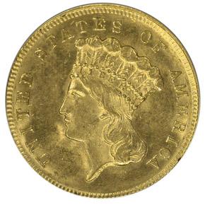 1868 $3 MS obverse