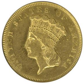 1869 $3 MS obverse