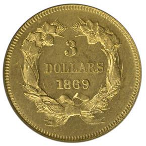 1869 $3 MS reverse