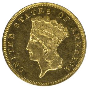 1876 $3 PF obverse