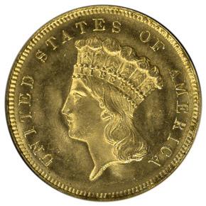 1880 $3 MS obverse