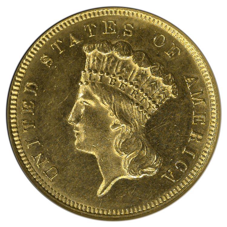 1882 3 Ms Three Dollar Gold Ngc