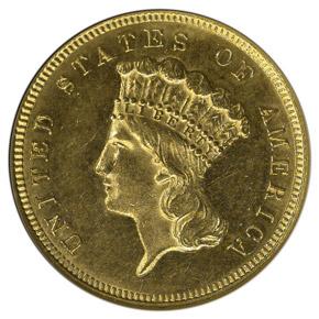 1882 $3 MS obverse