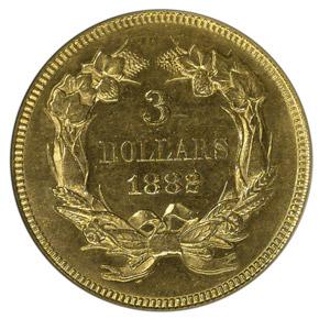 1882 $3 MS reverse
