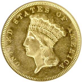 1886 $3 MS obverse
