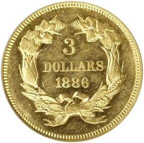1886 $3 MS reverse