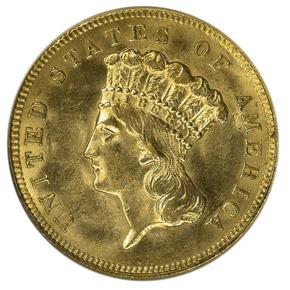 1889 $3 MS obverse