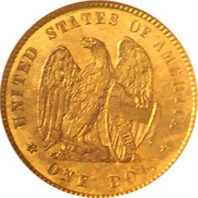 1872 J-1224 G$1 PF reverse