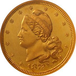 1872 J-1235 $3 PF obverse