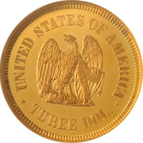 1872 J-1235 $3 PF reverse