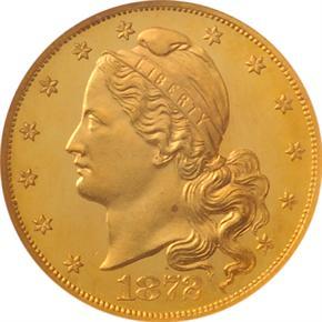 1872 J-1240 $5 PF obverse