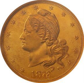 1872 J-1245 $10 PF obverse