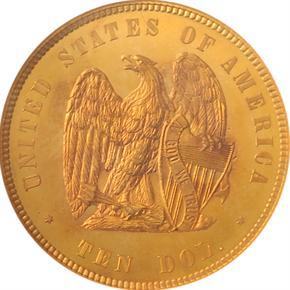 1872 J-1245 $10 PF reverse
