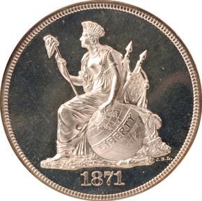 1871 J-1126 S$1 PF obverse