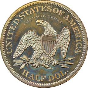 1863 J-341 50C PF reverse