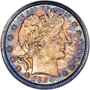 1894 O 25C MS obverse