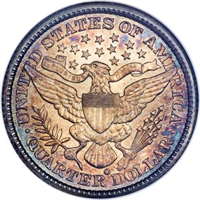 1894 O 25C MS reverse
