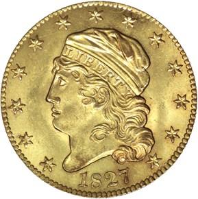 1827 BD-1 $5 MS obverse