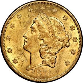 1874 CC $20 MS obverse