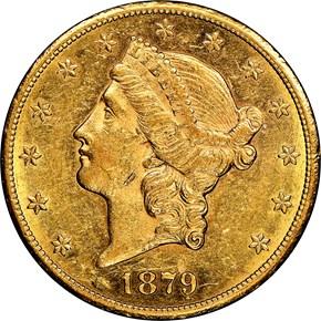 1879 CC $20 MS obverse