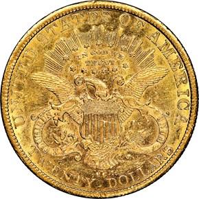 1879 CC $20 MS reverse