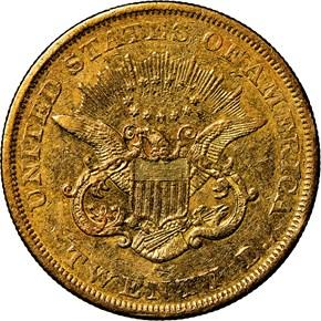 1850 O $20 MS reverse