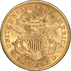1872 S $20 MS reverse