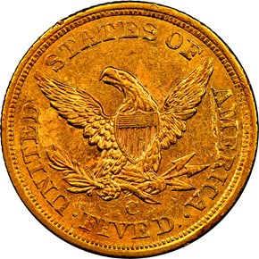 1856 C $5 MS reverse