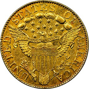 1804 SMALL 8 $5 MS reverse