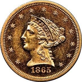 1865 $2.5 MS obverse