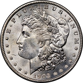 1903 O $1 MS obverse