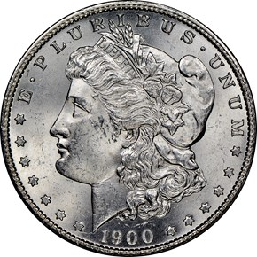 1900 S $1 MS obverse