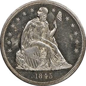 1845 $1 MS obverse