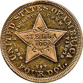 1879 FLOWING HAIR $4 PF reverse