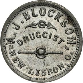(c.1868) NEW LISBON F-NC-OH-A, WM OH MS obverse