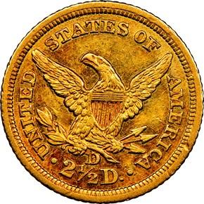 1843 D $2.5 MS reverse