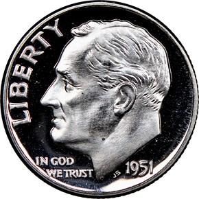 1951 10C PF obverse