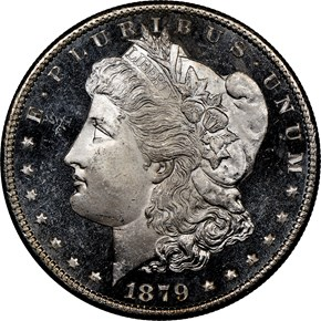 1879 S $1 MS obverse