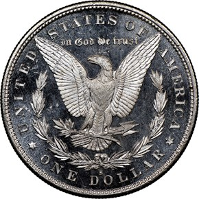 1879 S $1 MS reverse