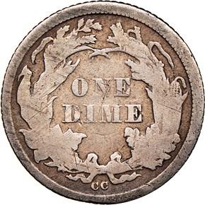 1873 CC ARROWS 10C MS reverse