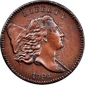 1794 1/2C MS obverse