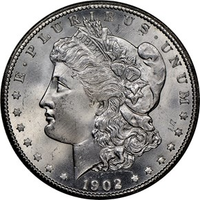 1902 S $1 MS obverse