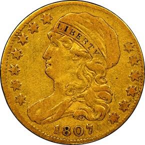 1807 BUST LEFT $5 MS obverse