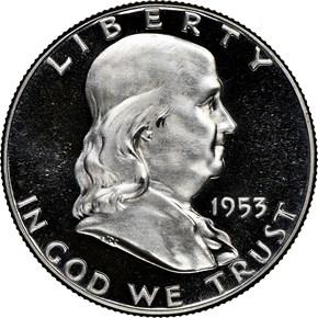 1953 50C PF obverse
